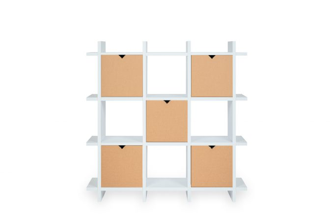 Papercomb | Regal aus Pappe | Shelly Shelf Cardboard