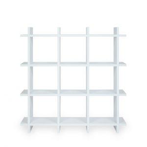 Pappmöbel: Regal aus Pappe weiss_front
