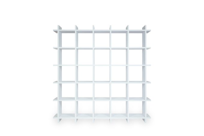 Papercomb pappregal cardboard shelf 5x5 shelly white front 1