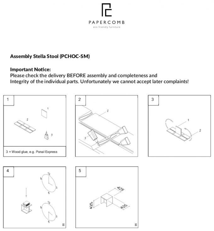 Papercomb Assembly Stella Stool v2